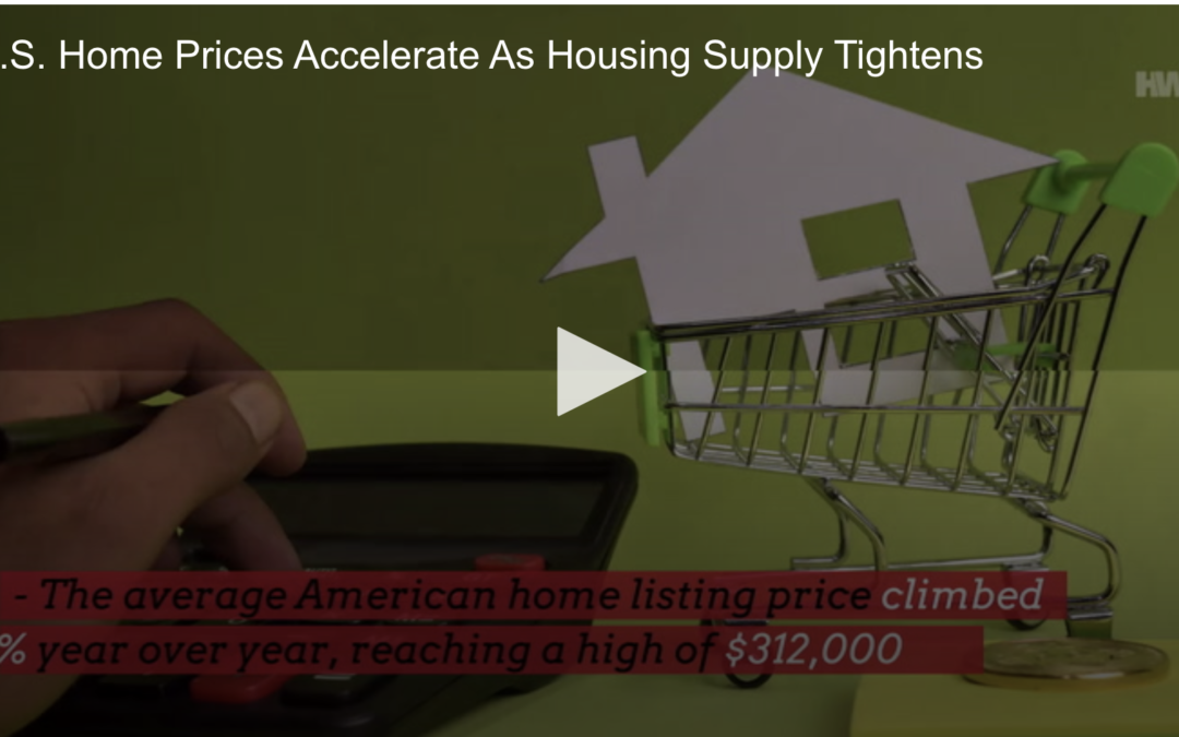 U.S. home prices accelerate as housing supply tightens